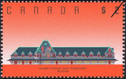 Railway Station, McAdam  Postage Stamp
