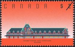 Railway Station, McAdam Canada Postage Stamp | Architecture