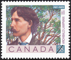 Archibald Lampman, 1861-1899  Postage Stamp