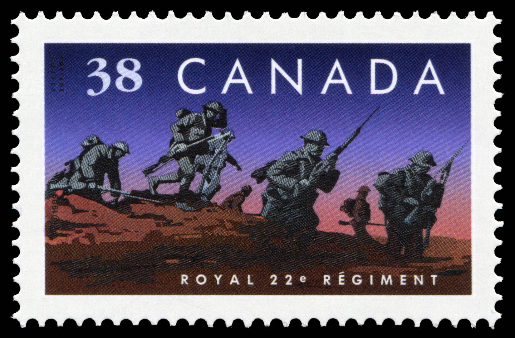 Royal 22e Regiment Canada Postage Stamp | Regiments