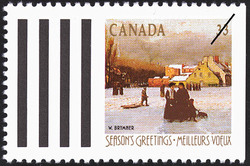 W. Brymner, Champ-de-Mars, Winter  Postage Stamp