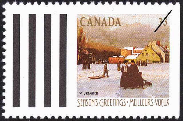 W. Brymner, Champ-de-Mars, Winter Canada Postage Stamp | Christmas, Winter Landscapes