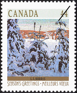 L.S. Harris, Snow II Canada Postage Stamp | Christmas, Winter Landscapes