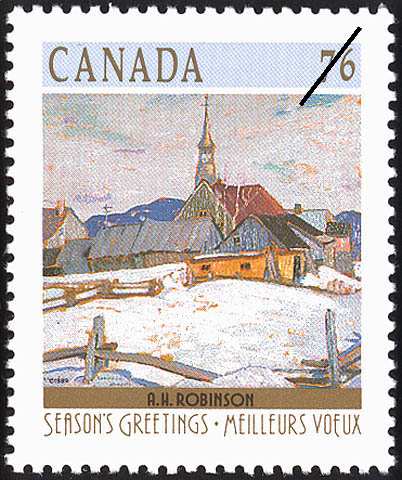 A.H. Robinson, Ste. Agnes Canada Postage Stamp | Christmas, Winter Landscapes