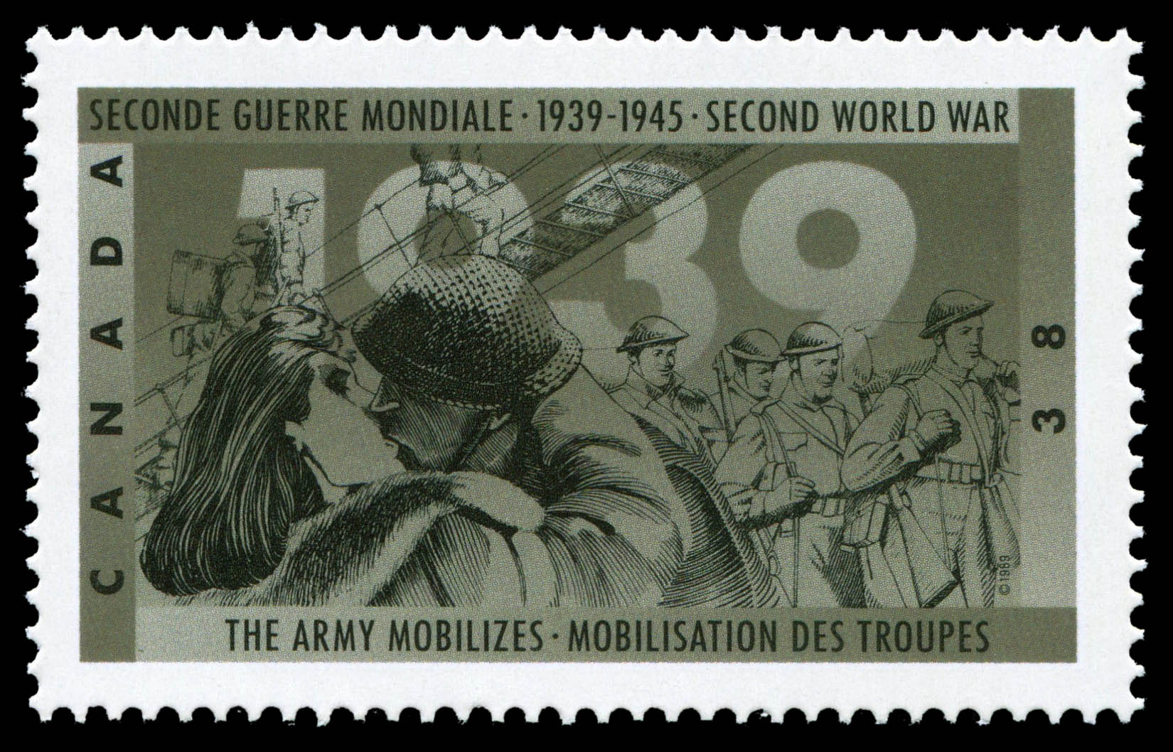 The Army mobilizes Canada Postage Stamp
