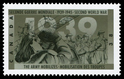 The Army mobilizes Canada Postage Stamp | The Second World War, 1939, Reluctantly at War Again