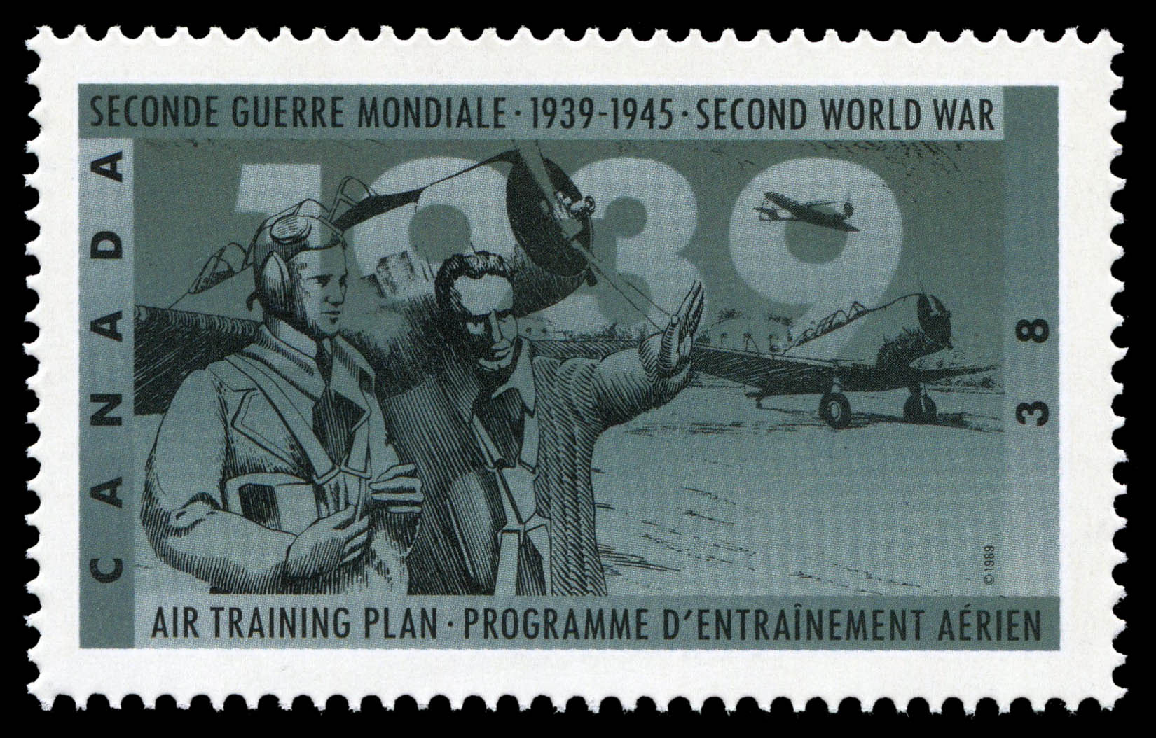 Air Training Plan Canada Postage Stamp