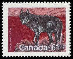 Timber Wolf Canada Postage Stamp | Canadian Mammals