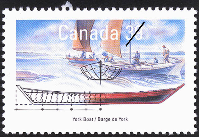 York Boat Canada Postage Stamp