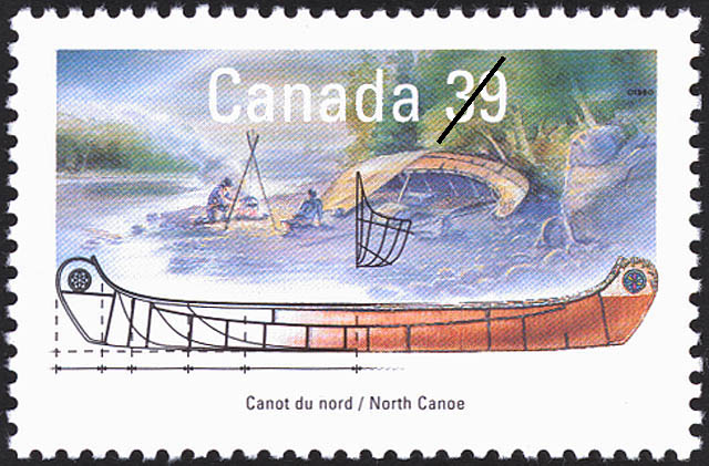 North Canoe Canada Postage Stamp | Small Craft, Work Boats