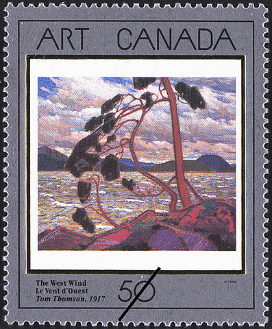 The West Wind, Tom Thomson, 1917 Canada Postage Stamp