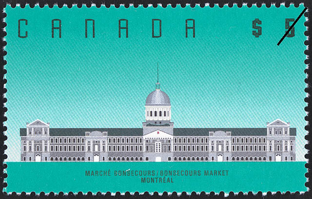 Bonsecours Market, Montreal Canada Postage Stamp