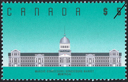 Bonsecours Market, Montreal Canada Postage Stamp | Architecture