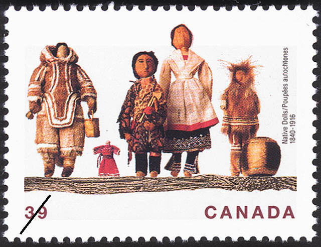 Native Dolls, 1840-1916 Canada Postage Stamp