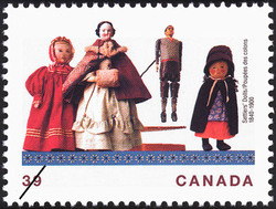 Settlers' Dolls, 1840-1900 Canada Postage Stamp | Dolls