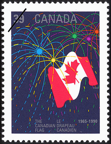 The Canadian Flag, 1965-1990 Canada Postage Stamp