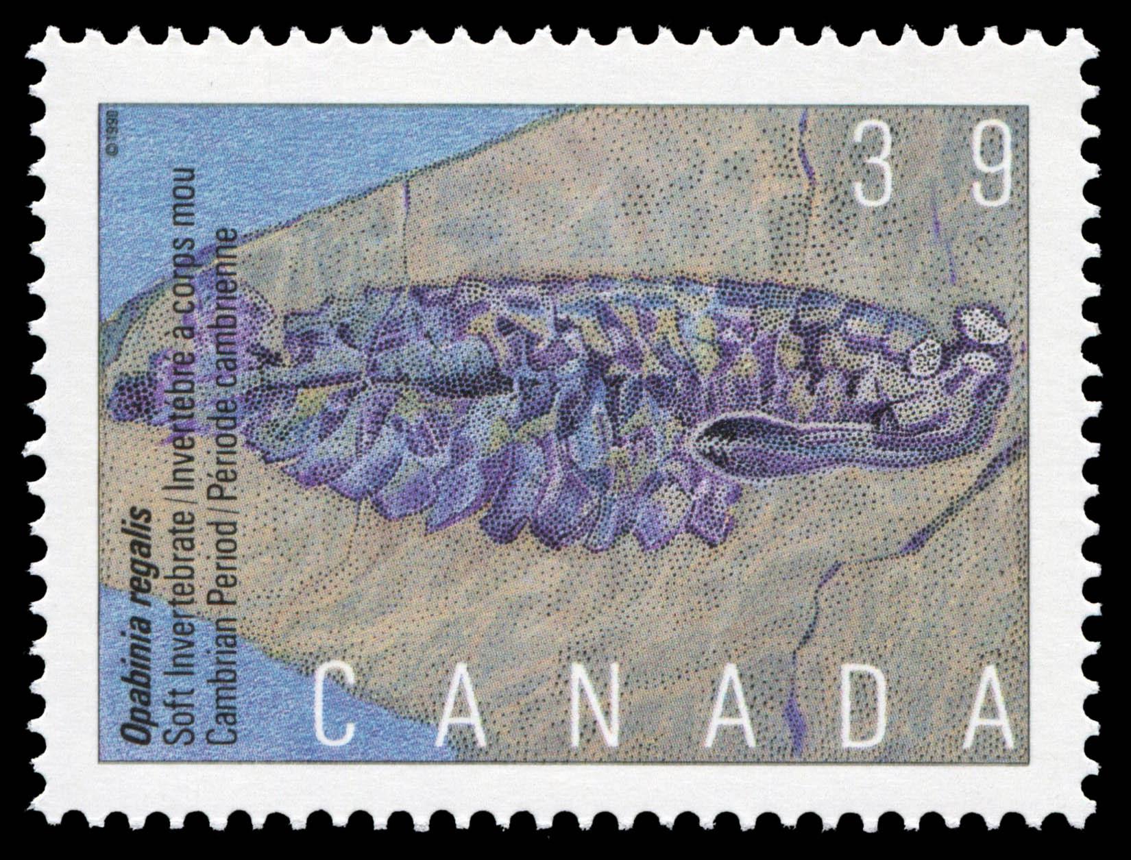 Opabinia regalis, Soft Invertebrate, Cambrian Period Canada Postage Stamp