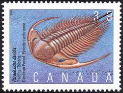Paradoxides davidis, Trilobite, Cambrian Period Canada Postage Stamp | Prehistoric Life in Canada, The Age of Primitive Life