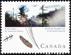 Great Lakes - St. Lawrence Forest Canada Postage Stamp | Canadian Forests