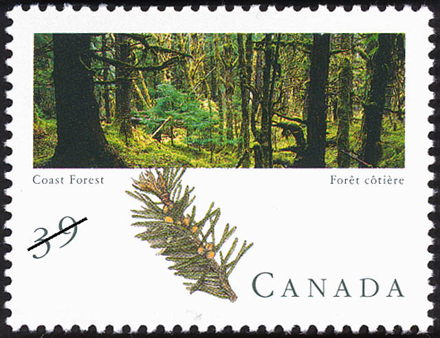 Coast Forest Canada Postage Stamp | Canadian Forests