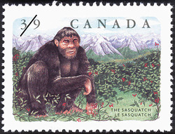The Sasquatch Canada Postage Stamp | Folklore, Legendary Creatures