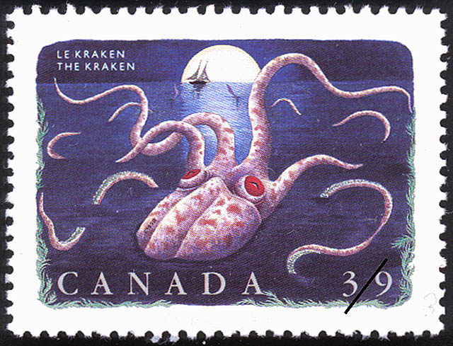 The Kraken Canada Postage Stamp