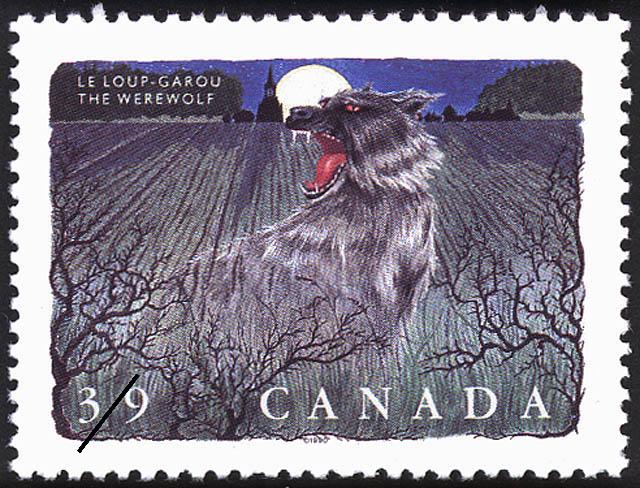 The Werewolf Canada Postage Stamp | Folklore, Legendary Creatures