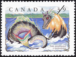 The Ogopogo Canada Postage Stamp | Folklore, Legendary Creatures