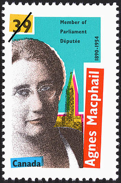 Agnes Macphail, 1890-1954, Member of Parliament Canada Postage Stamp
