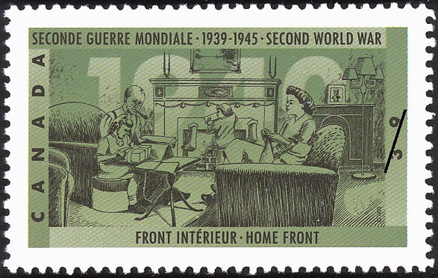 Home Front Canada Postage Stamp   The Second World War, 1940, Canada Mobilizes Its Resources