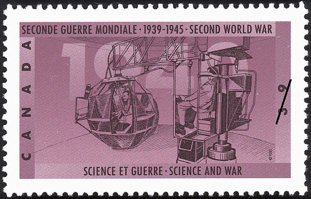 Science and War Canada Postage Stamp