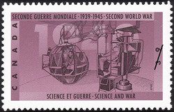 Science and War Canada Postage Stamp | The Second World War, 1940, Canada Mobilizes Its Resources