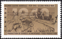 Food Production Canada Postage Stamp | The Second World War, 1940, Canada Mobilizes Its Resources