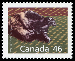 Wolverine Canada Postage Stamp