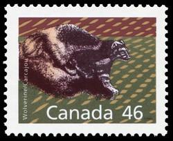 Wolverine Canada Postage Stamp | Canadian Mammals