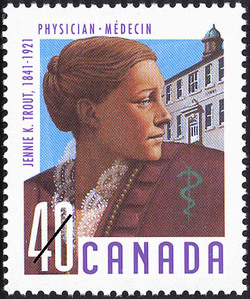 Jennie K. Trout, 1841-1921, Physician Canada Postage Stamp | Canadian Doctors