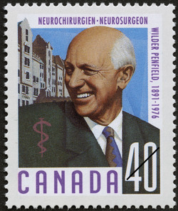 Wilder Penfield, 1891-1976, Neurosurgeon Canada Postage Stamp | Canadian Doctors