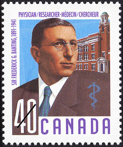 Sir Frederick G. Banting, 1891-1941, Physician / Researcher Canada Postage Stamp | Canadian Doctors