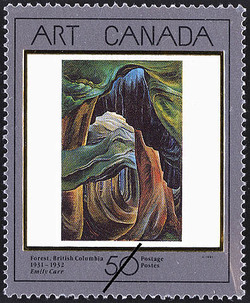 Forest, British Columbia, Emily Carr, 1931-1932 Canada Postage Stamp | Masterpieces of Canadian Art