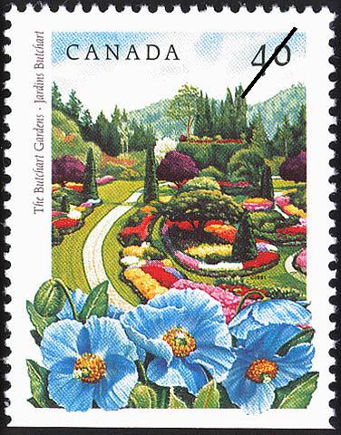 The Butchard Gardens Canada Postage Stamp | Public Gardens