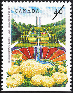 International Peace Garden Canada Postage Stamp | Public Gardens