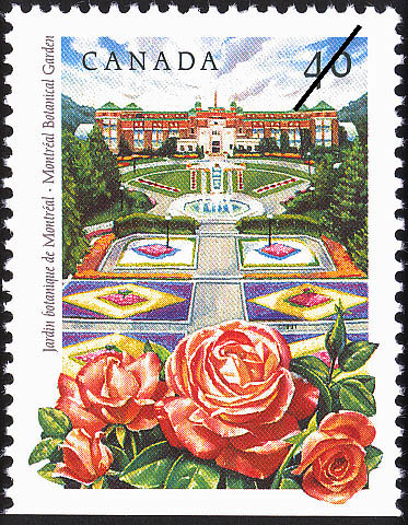 Montreal Botanical Garden Canada Postage Stamp