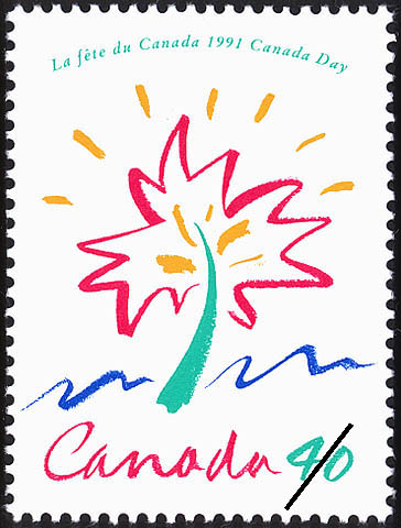 Canada Day, 1991 Canada Postage Stamp
