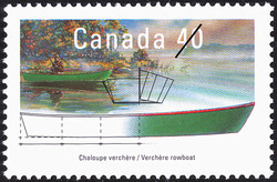 Verchere Rowboat Canada Postage Stamp | Small Craft, Pleasure Craft