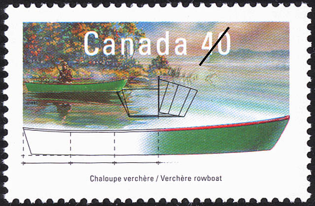 Verchere Rowboat Canada Postage Stamp