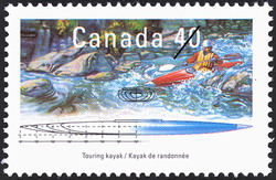 Touring Kayak Canada Postage Stamp | Small Craft, Pleasure Craft