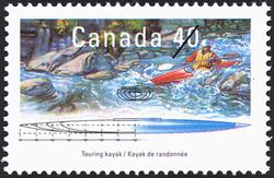 Touring Kayak Canada Postage Stamp | Small Craft, Pleasure Craft