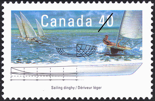 Sailing Dinghy Canada Postage Stamp