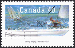 Sailing Dinghy  Postage Stamp