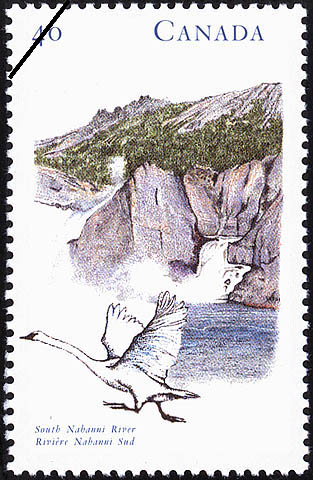 South Nahanni River Canada Postage Stamp | Canada's River Heritage, Wilderness Rivers